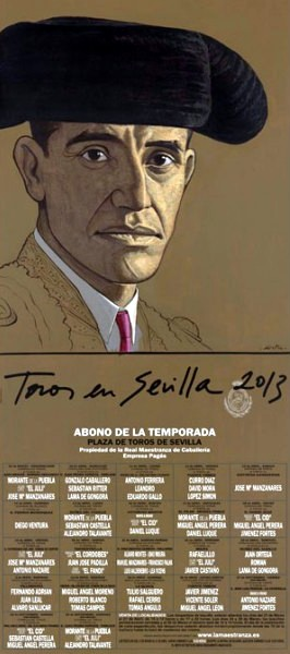 Official poster for 2013 featuring Juan Belmonte