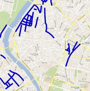 Seville Street Parking Map - click on image to enlarge