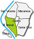 El Arenal Stadtviertel Sevilla