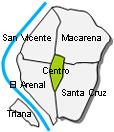 Mapa Centro Sevilla