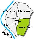 Seville Santa Cruz Map