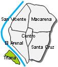 Stadtplan Triana Sevilla