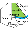 Location of apartment Albaicín