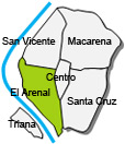 Location of apartment El Arenal