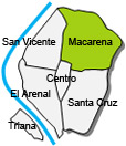 Location of apartment Macarena