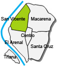 Location of apartment San Vicente