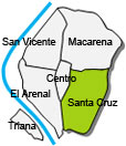 Location of apartment Santa Cruz