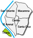 Location of apartment Triana