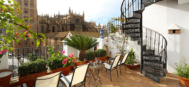 Seville rental apartment Catedral Terrace | Town-house with exceptional Cathedral views 0323