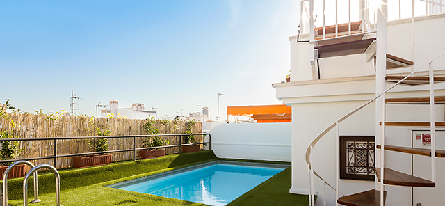 Seville rental apartment Relator Terrace | 3 bedrooms, 3 bathrooms, terrace & private pool 0875