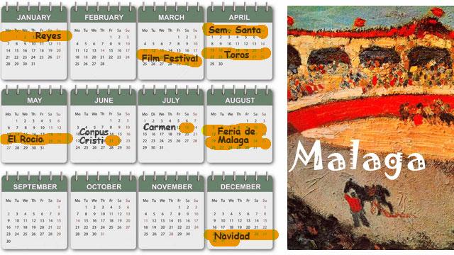 Calendrier Festival.Calendrier Des Evenements A Malaga