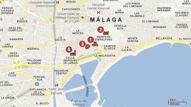 Visiter Malaga Plan Ville