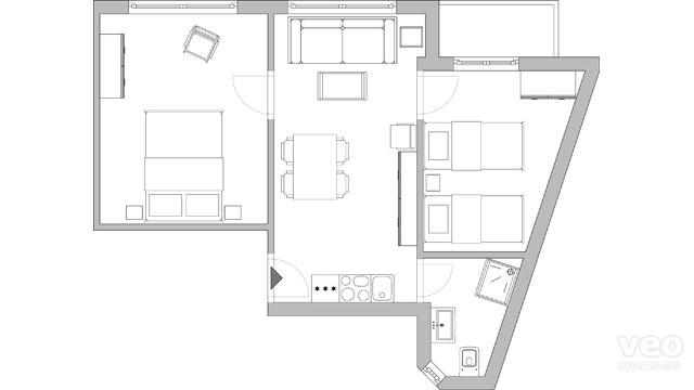 plan appartement 60 m
