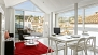 Granada Apartment - Living-dining area with enormous glass walls and panoramic views over the Albaic�n (upper floor).