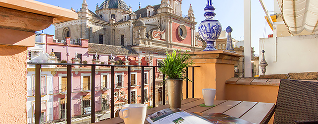 Seville rental apartment Salvador Terrace | Superb town-house with exceptional terrace views 0193