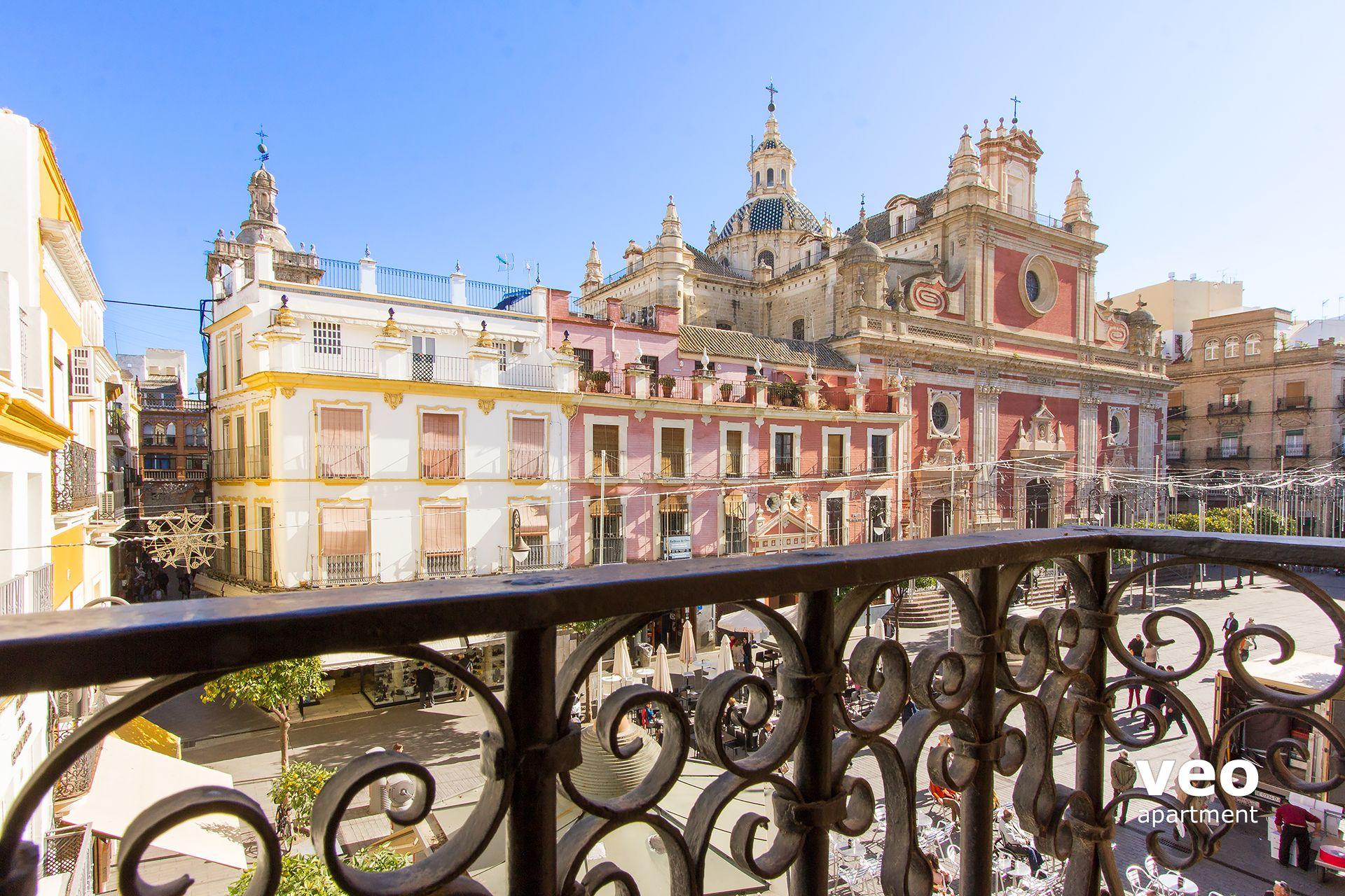 Apartment mieten del Salvador Platz Sevilla Spanien | Salvador Terrasse | Ferienwohnung in Sevilla
