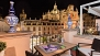 Seville Apartment - At night, the Salvador church is iluminated.