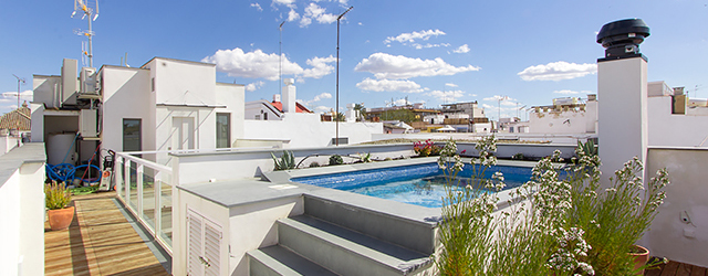 Seville rental apartment Teodosio Terrace | 3 bedrooms, 3 bathrooms, terrace & private pool 0196