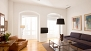 Seville Apartment - Bright and comfortable living room with large windows, 2 sofas and 2 armchairs.