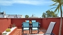 Seville Apartment - The private terrace is accessed via the communal stairs and roof-terrace.