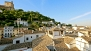 Granada Ferienwohnung - View over the roof-tops of the Albaic�n from the living-dining room.