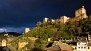 Granada Ferienwohnung - Night view of the Alhambra from the apartment balcony.