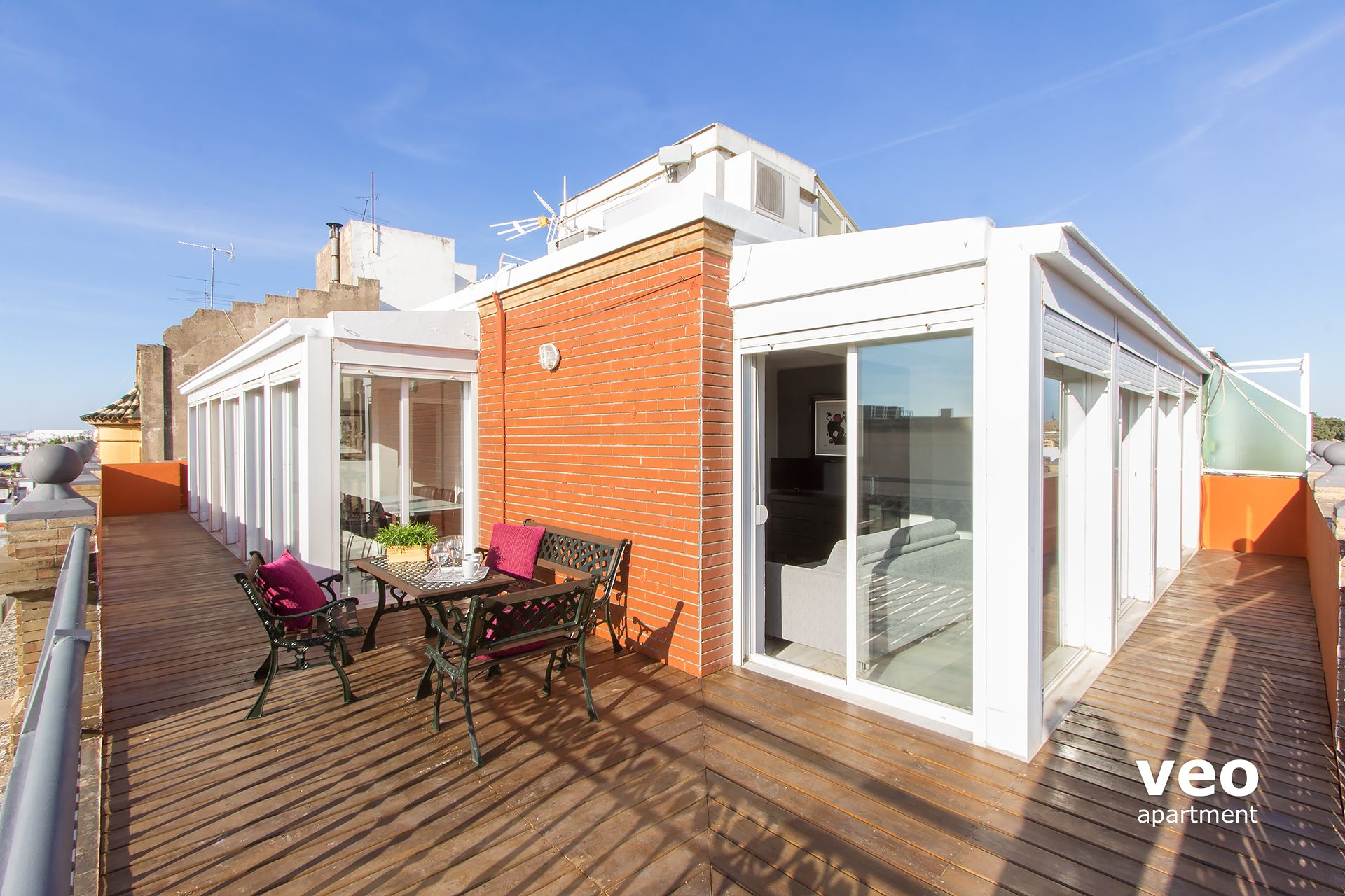 Seville Apartment   Penthouse With A L Shaped Terrace Which Runs The Length  Of The Apartment ...