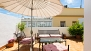 Seville Apartment - Private terrace with garden furniture.