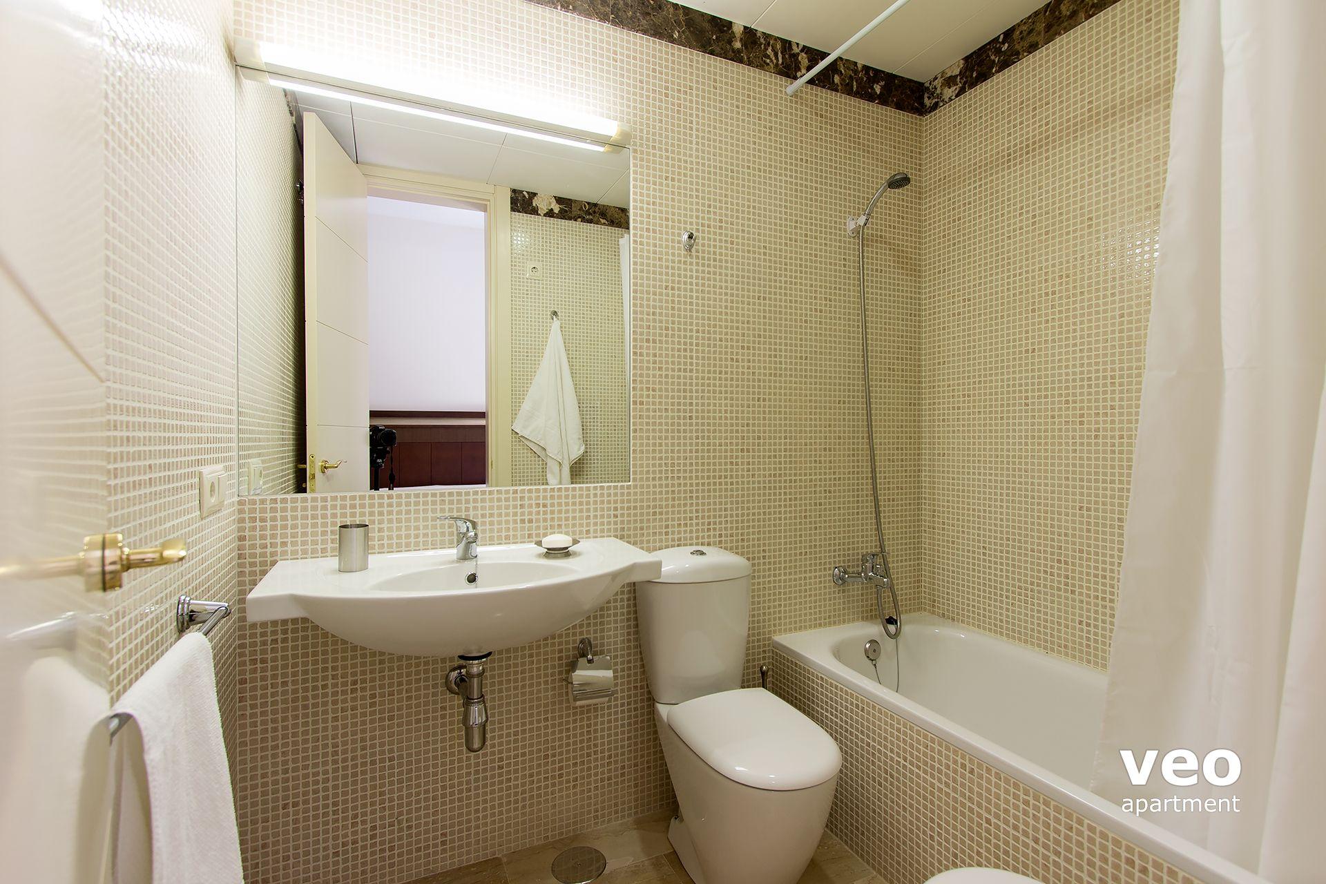 Non En Suite Bathroom: Seville Apartment Pajaritos Street Seville Spain