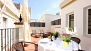 Sevilla Ferienwohnung - Private terrace with table, 4 chairs, canopy and 2 sun-loungers.