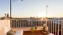 Seville Apartment - Private terrace with beautiful sunset views, with the Cathedral on the left.
