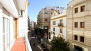 Sevilla Ferienwohnung - View of Rioja street from the apartment balcony.