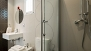 Seville Apartment - Bathroom with washbasin, WC, bidet and shower. There is also an electric towel rail.