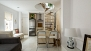 Seville Apartment - There is a kitchen island unit for dining with 2 bar stools.