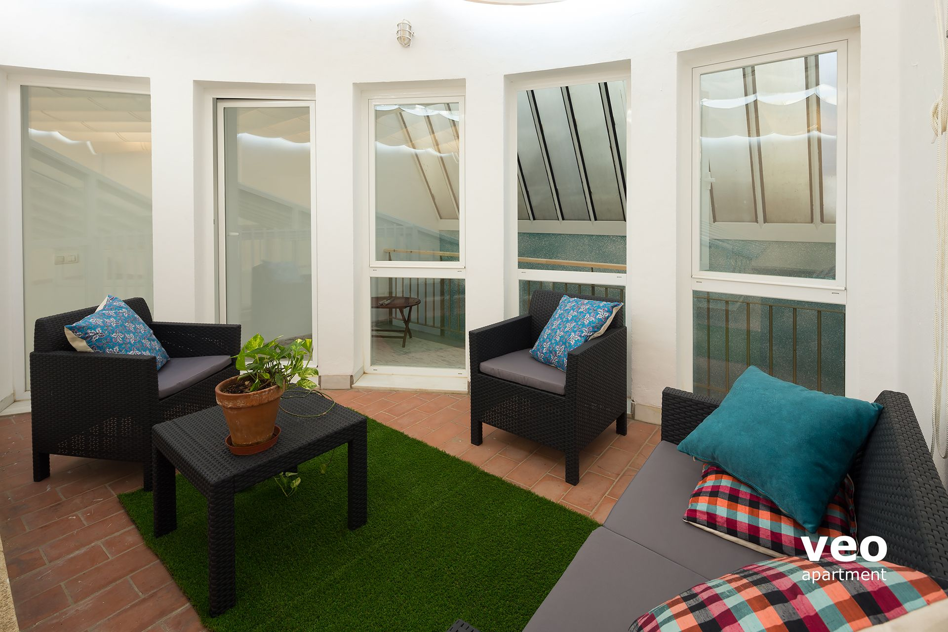 Granada Apartment   Terrace With Outdoor Furniture.