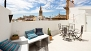 Seville Apartment - The terrace is equipped with garden furniture.