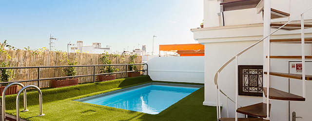Sevilla Apartment Relator Terrasse | 3 bedrooms, 3 bathrooms, terrace & private pool 0875