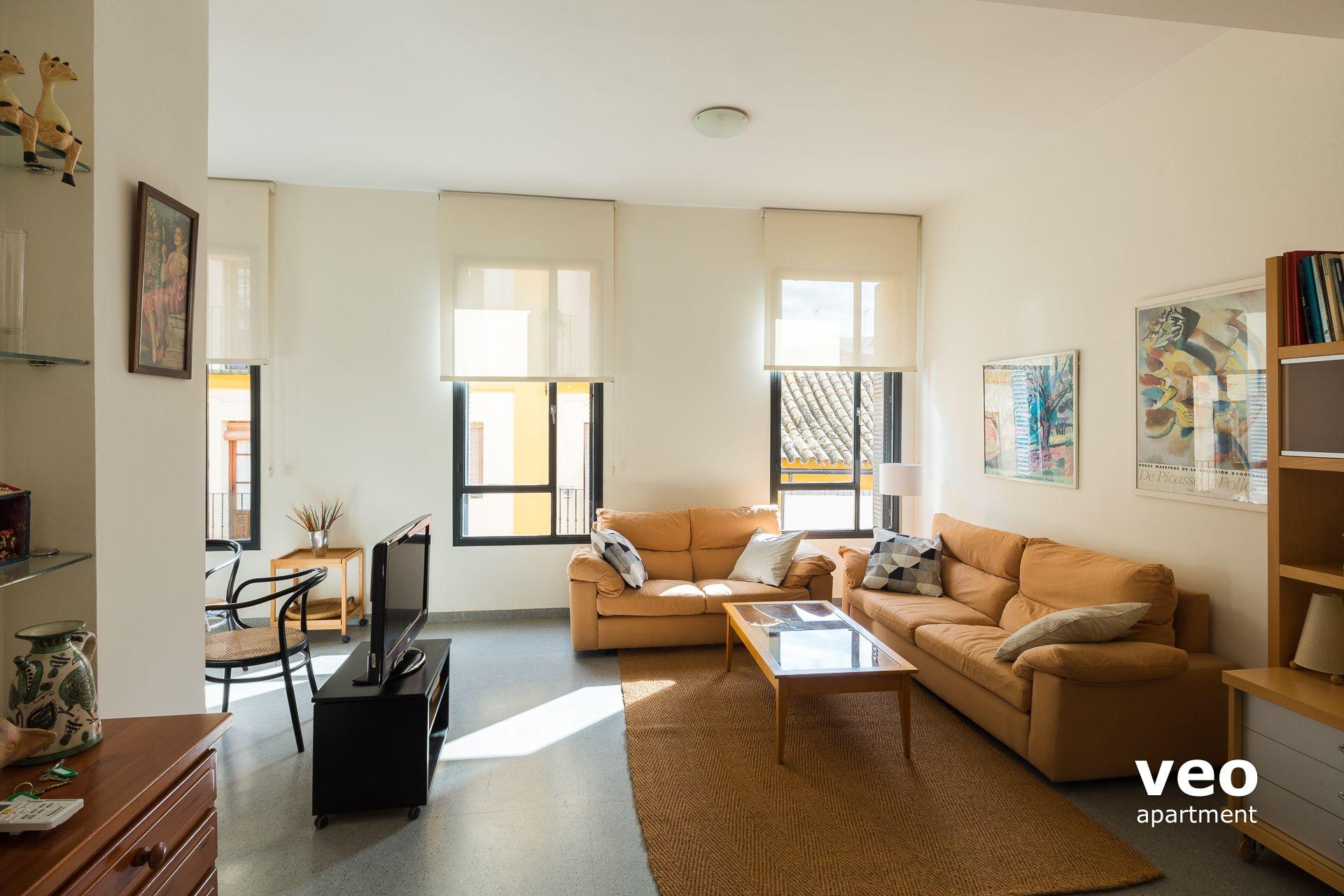 Sevilla apartmento calle san vicente sevilla espa a san vicente terraza alquiler de - Muebles san vicente ...
